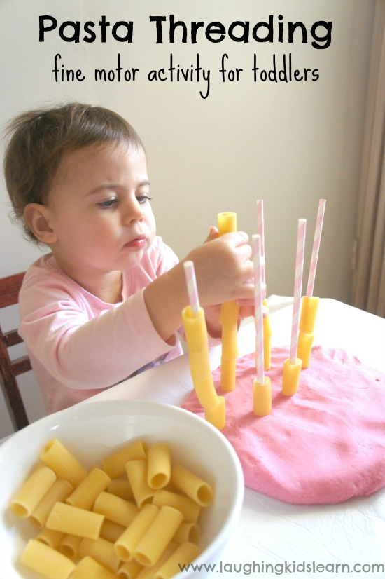 Pasta-Threading-fine-motor-activity-for-toddlers